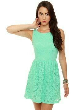 Dress Lace Dresses Mint Green Spring My Style Lacy Gowns
