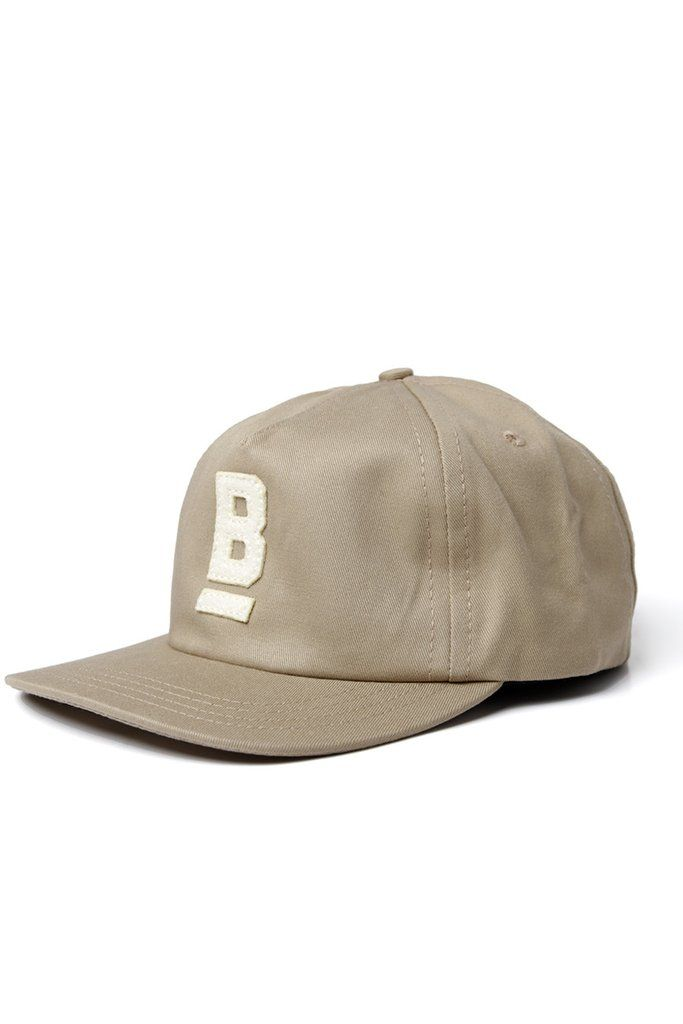 3287480c647a0 B Flat Cotton Twill Cap Khaki – Bridge   Burn
