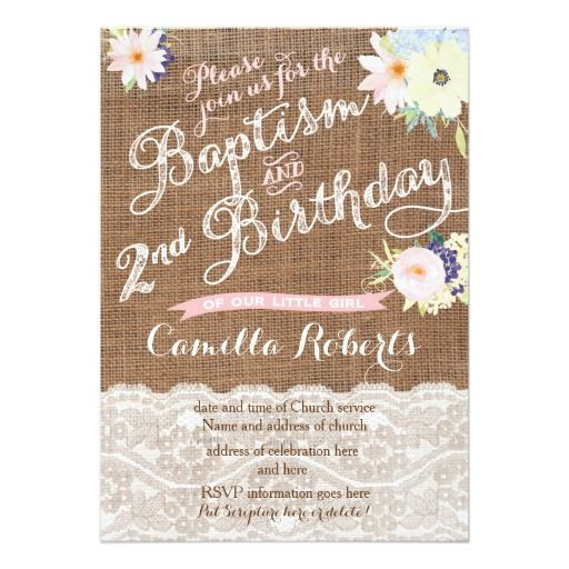 Baptism and birthday invitations 2nd birthday card filmwisefo