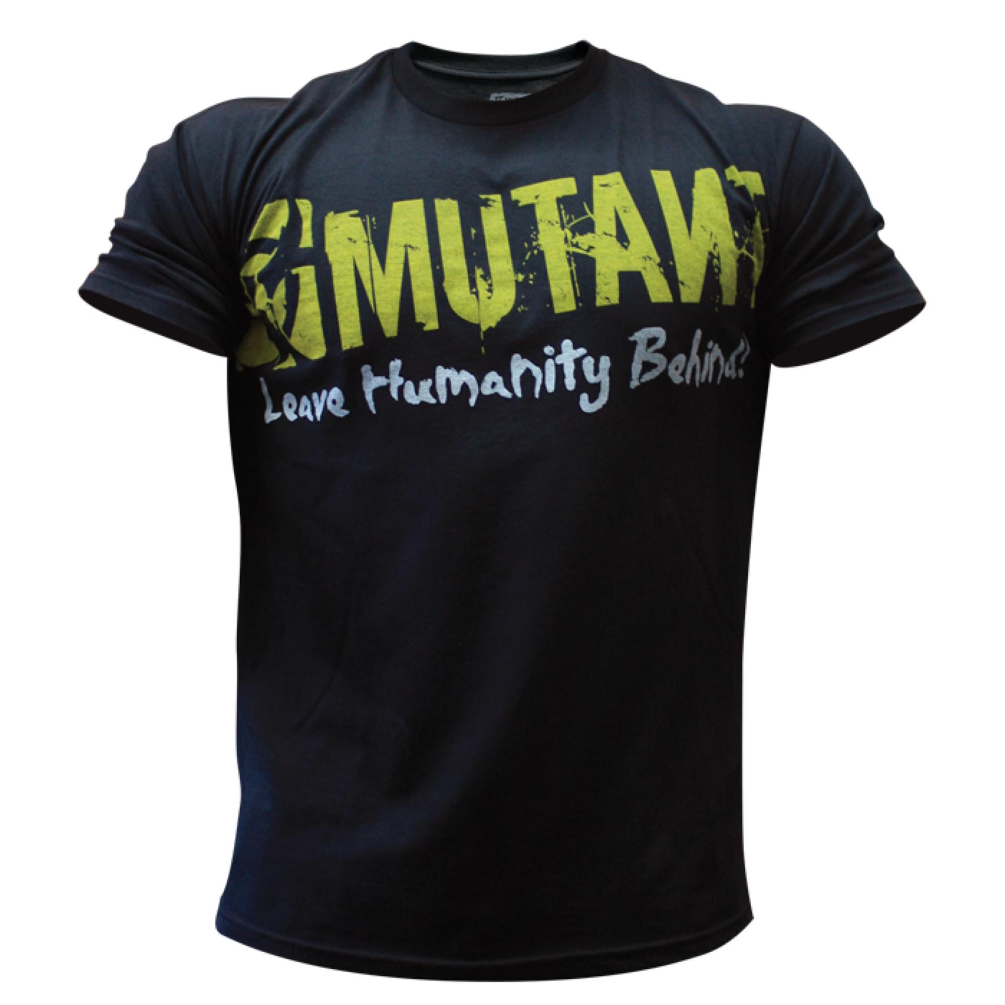 mutant tshirt black logo mutant supplements official