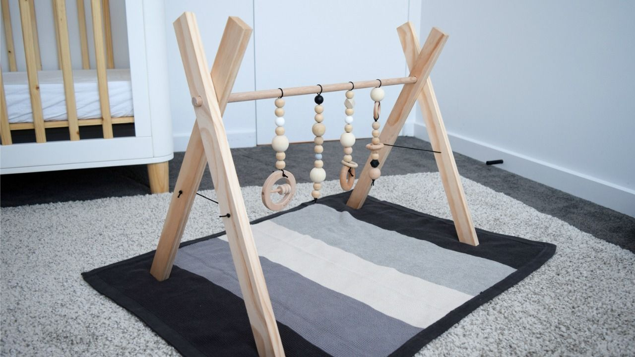 DIY baby play gym: Make a stylish timber play gym for your baby
