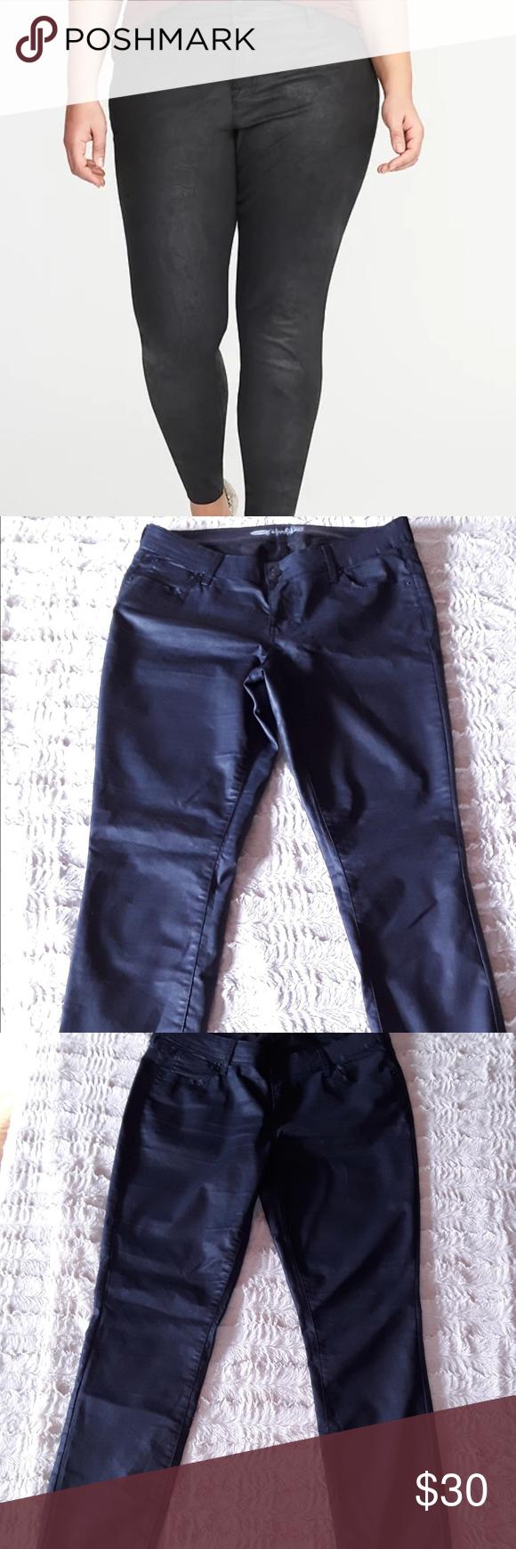 Old Navy Coated Rocksar Navy Blue Jean Size 14 Pre Owned Old Navy Coated Navy Blue Jeans Is In Excellent Con Old Navy Coats Perfect Jeans Blue Jeans