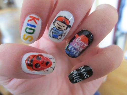 Pin By Allyse Rindone On Mac Milllerrr 3 Nails How To Do Nails Mac Miller