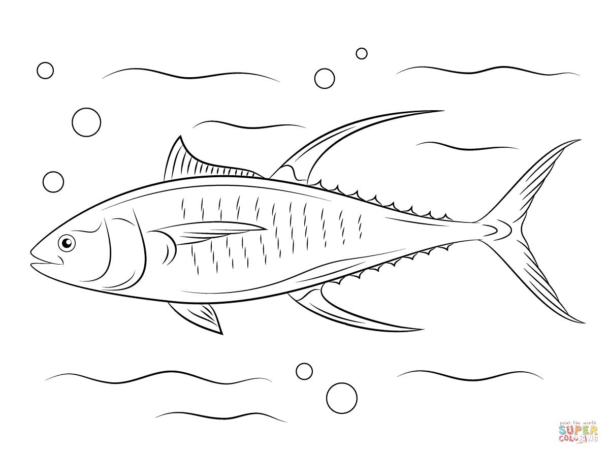 Click The Cute Yellowfin Tuna Fish Coloring Page Yellowfin Tuna Coloring Pages