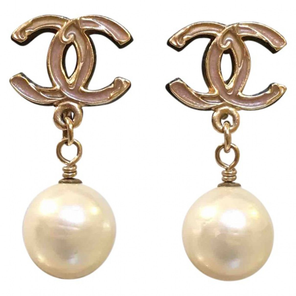 CC Pearl Earrings  Chanel   Catchys