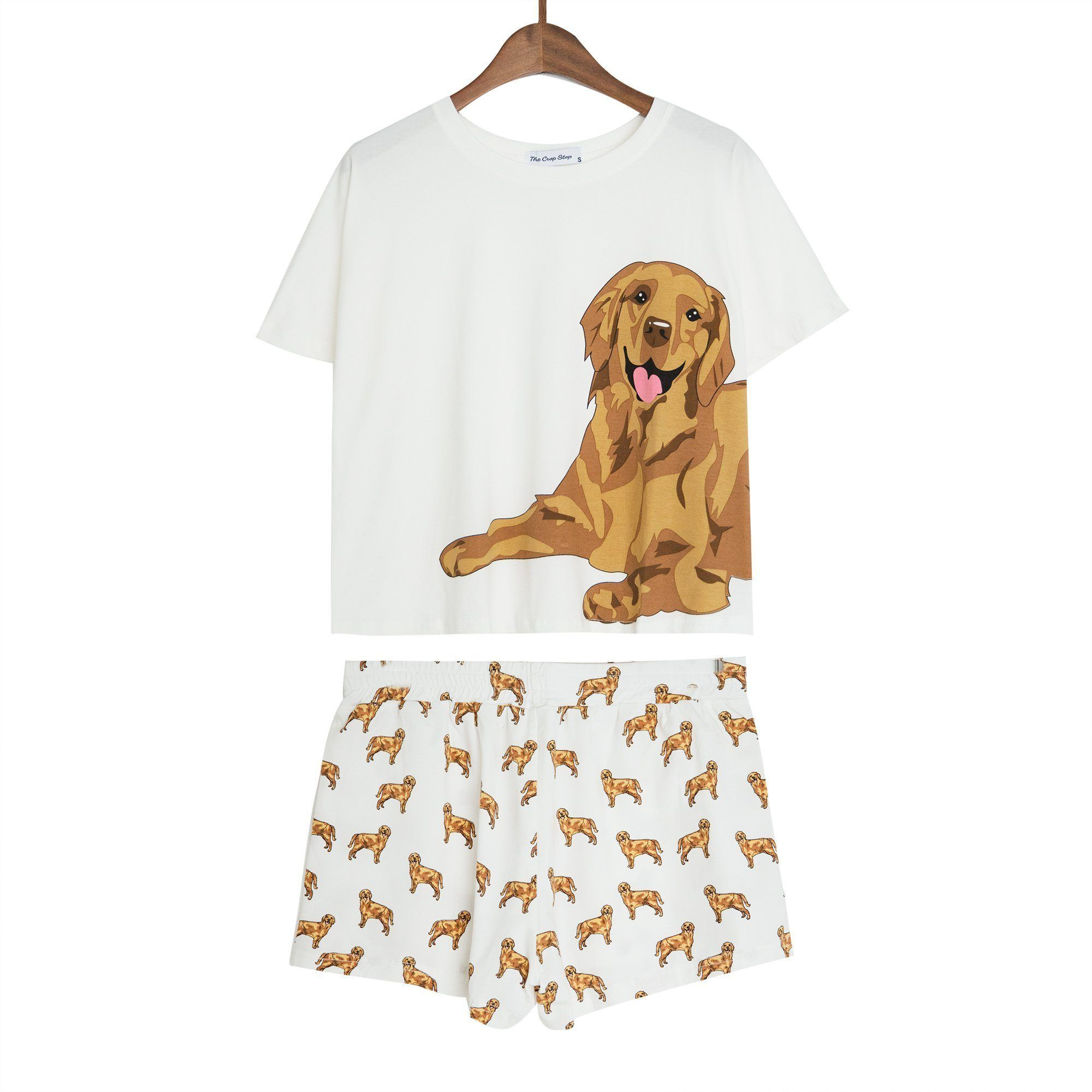 Golden Retriever Two Piece Pajama Set With Images Golden