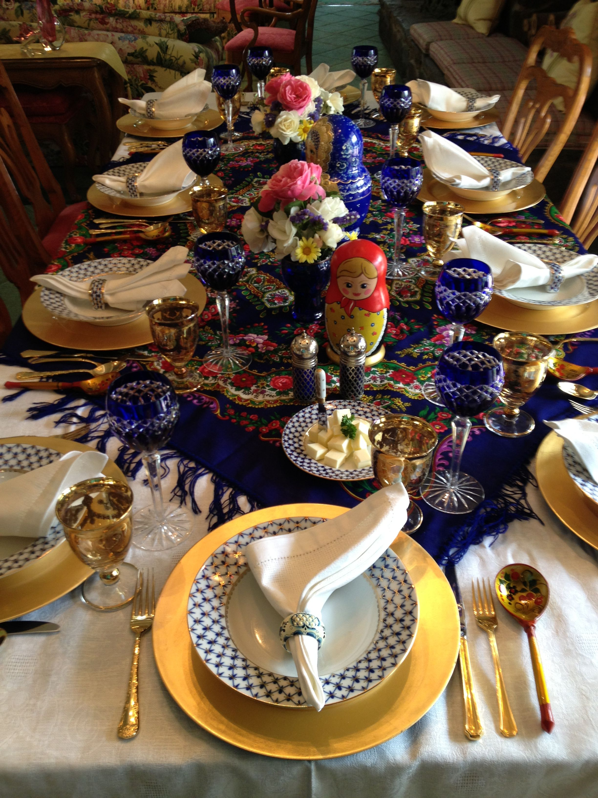 Russian Dinner Party Feast - Private Chef event table setting ...