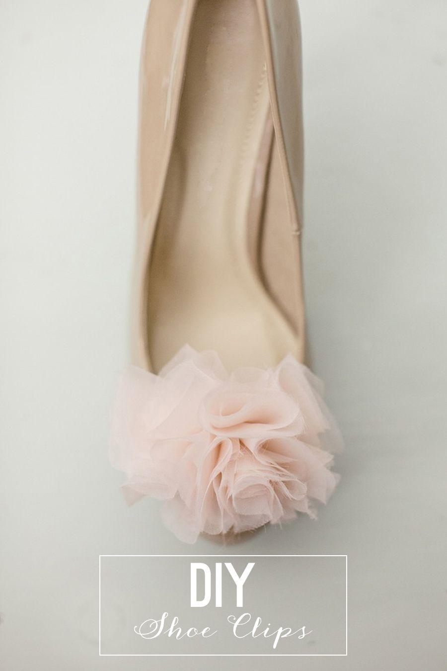 DIY Chiffon Pom Shoe Clips