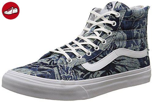 Vans U Sk8-Hi Slim Zip Perf Leather, Sneakers Hautes Mixte Adulte, Blanc (Perf Leather/TRUE White), 38 EU
