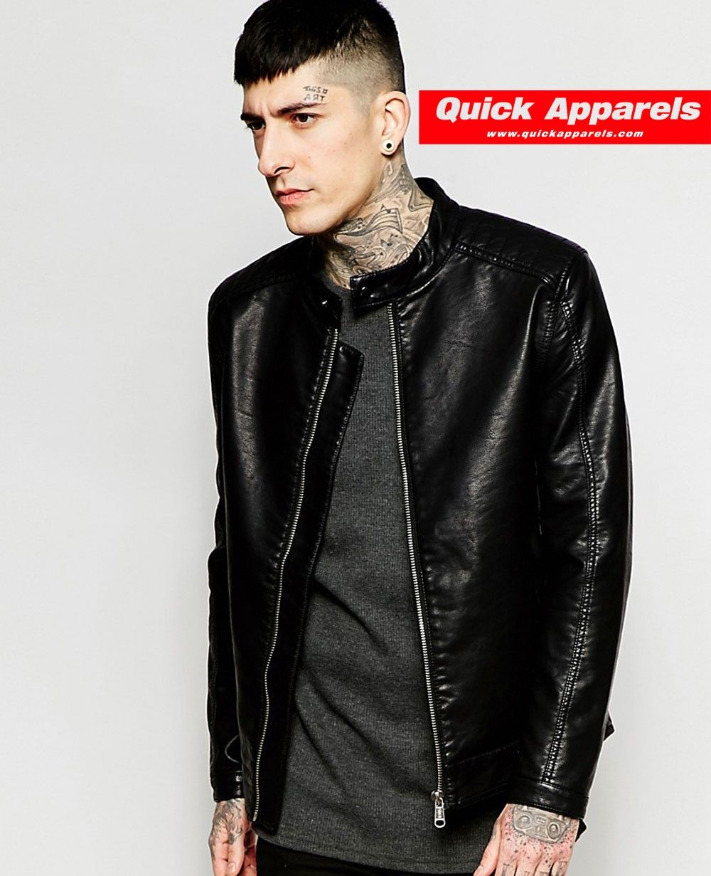 Http Www Quickapparels Com Best Selling Black Faux Leather Jacket Html Black Faux Leather Jacket Best Leather Jackets Cafe Racer Leather Jacket