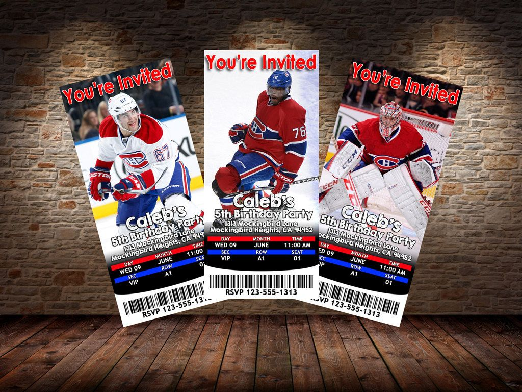 Montreal Canadiens Themed Birthday Invitations - Digital File ...