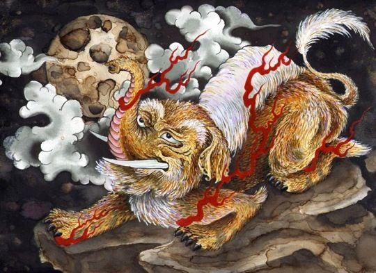 Baku 5 Jpeg 540 393 With Images Japanese Mythical Creatures