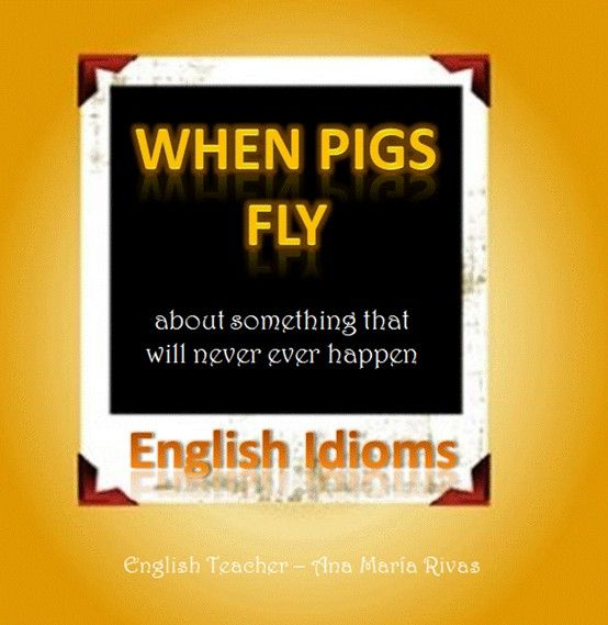 When Pigs Fly This Means Something That Will Never Happen For