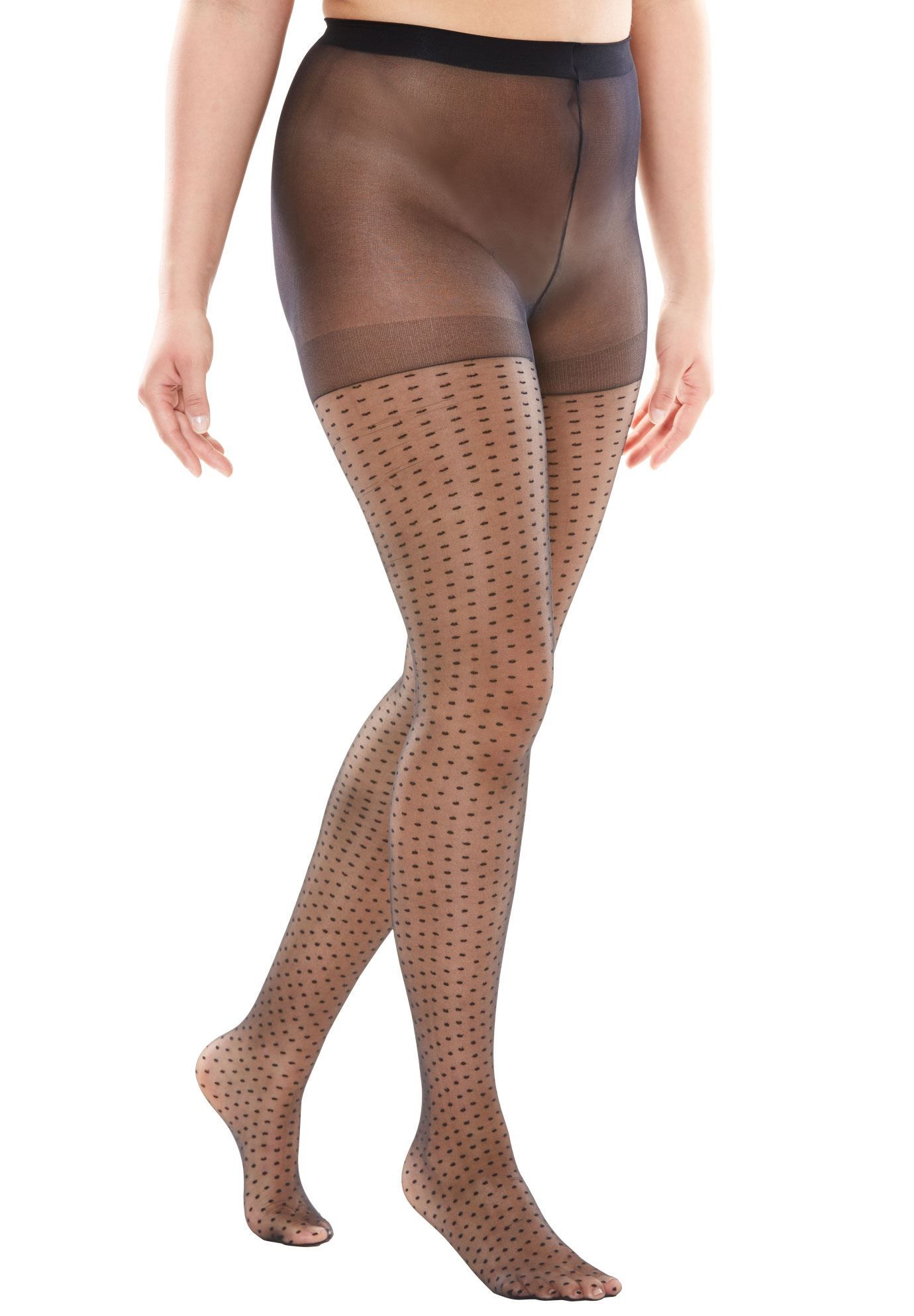 8b901bead27 2-Pack Pattern Hosiery by Comfort Choice - Women s Plus Size Clothing