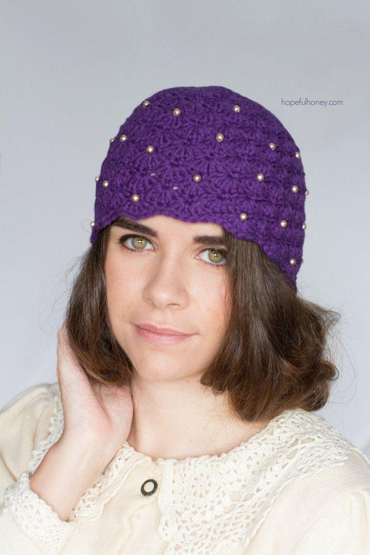 CROCHET PATTERN - Scalloped Pearl Cloche Hat, 1920\'s Flapper Hat ...