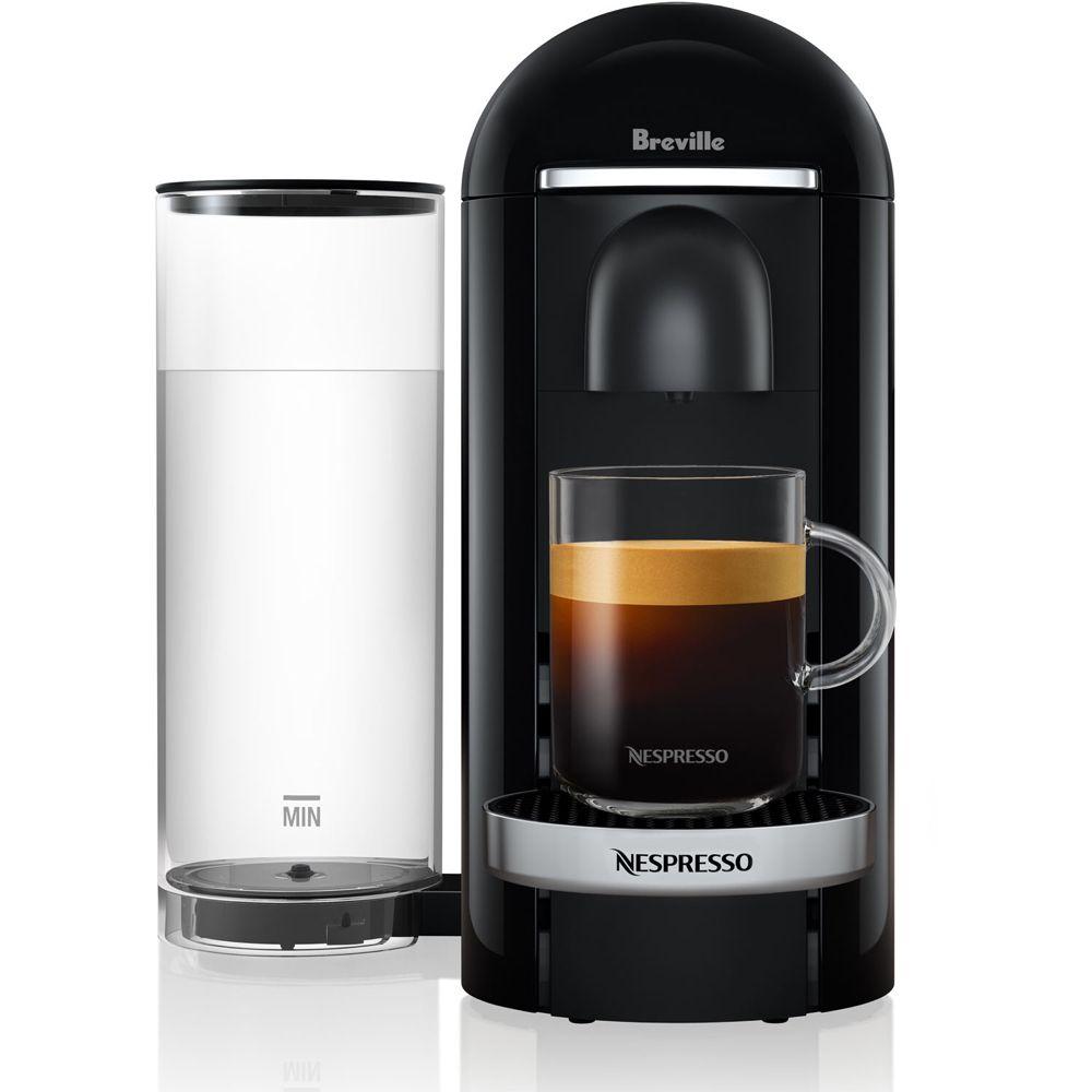 Breville Nespresso Vertuoplus Deluxe Coffee Espresso Single Serve Machine In Piano Black Walmart Com Coffee And Espresso Maker Nespresso Coffee Machine Nespresso
