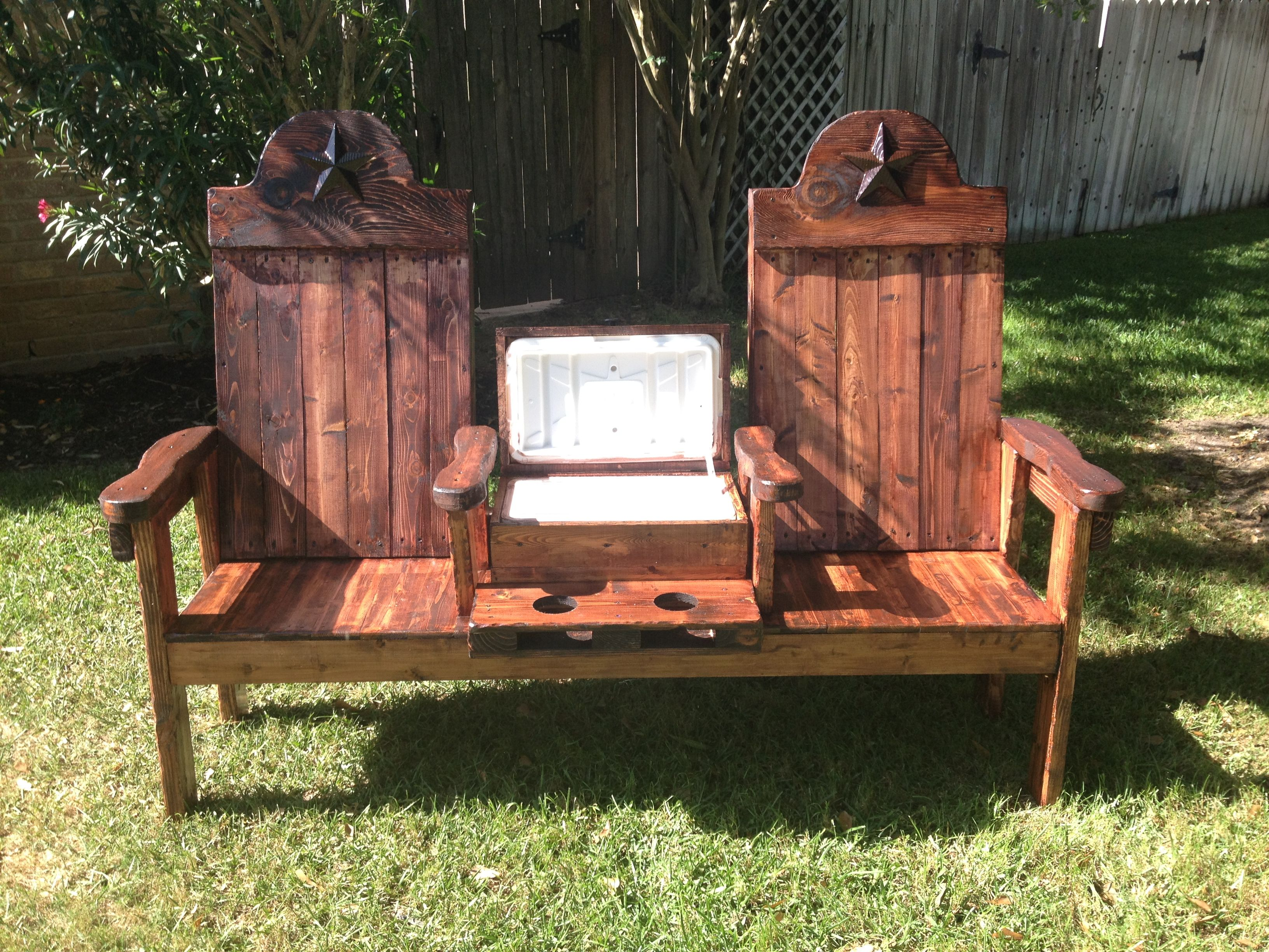 Outstanding Texasoutbackfurniture Com Cedar Cooler Bench For Two Gmtry Best Dining Table And Chair Ideas Images Gmtryco