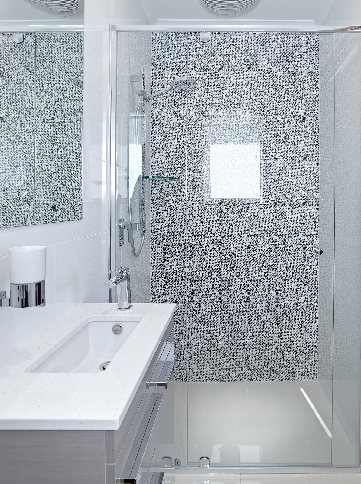 Elegant & Stylish Compact Ensuite still easily fits a vanity, shower ...
