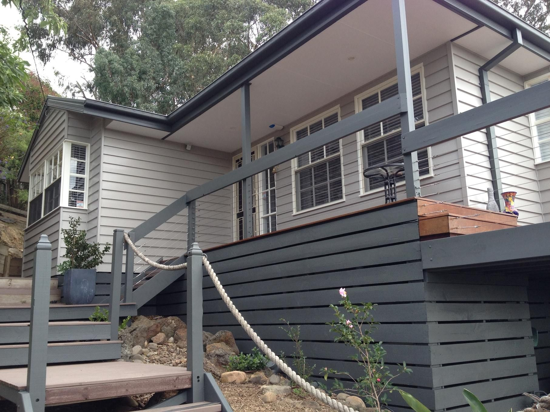 Colorbond woodland grey paint on weatherboard google search property styling tips in 2019 for Colorbond colour schemes exterior