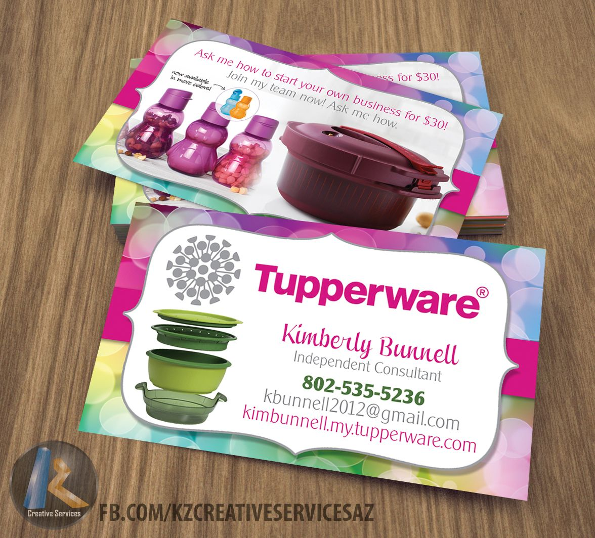 Tupperware business cards graphic design business ideas tupperware business cards magicingreecefo Choice Image