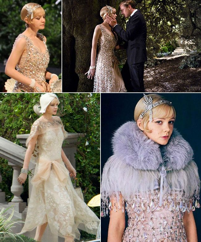 Gatsby inspired wedding dresses and embellishments for The great gatsby wedding dresses