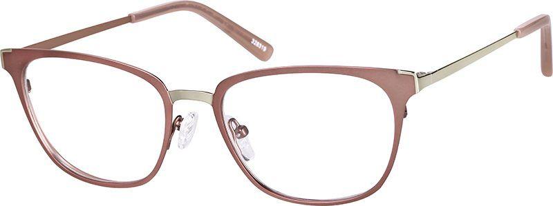 98d2323e38a Rose Gold Cat-Eye Glasses  328319