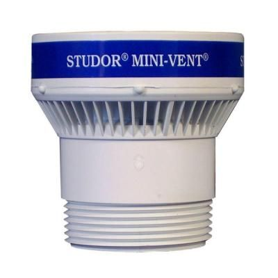 Studor 1 1 2 In Or 2 In Pvc Mini Vent Adapter 20341 The Home Depot Plumbing Pvc Vented