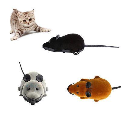 Wireless RC Remote Control Juguetes Ratón Falso electrico Para Gatos Animales