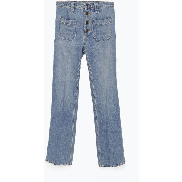 Zara Short Flared Jeans (€9,01) via Polyvore featuring jeans ...