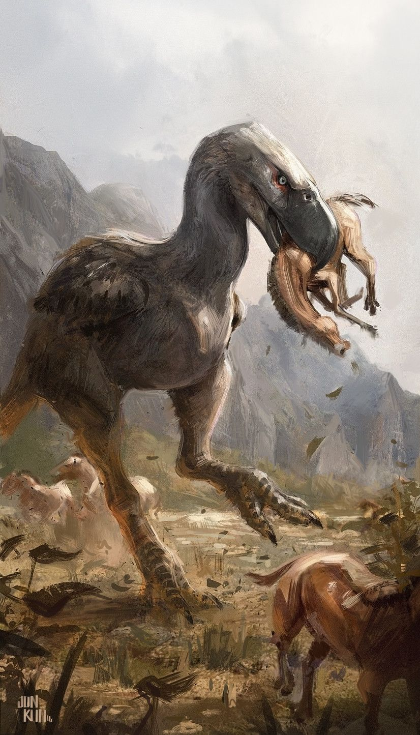 artstation terror bird jonathan kuo extinct pinterest
