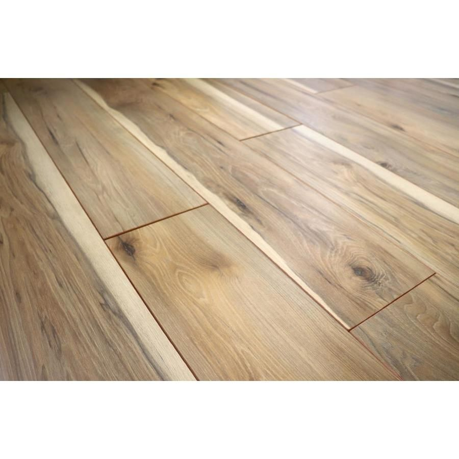 Lawrenceville Hickory 8 03 In W X 3 96 Ft L Smooth Wood Plank Laminate Flooring Lowes Com Laminate Flooring Flooring Wood Planks