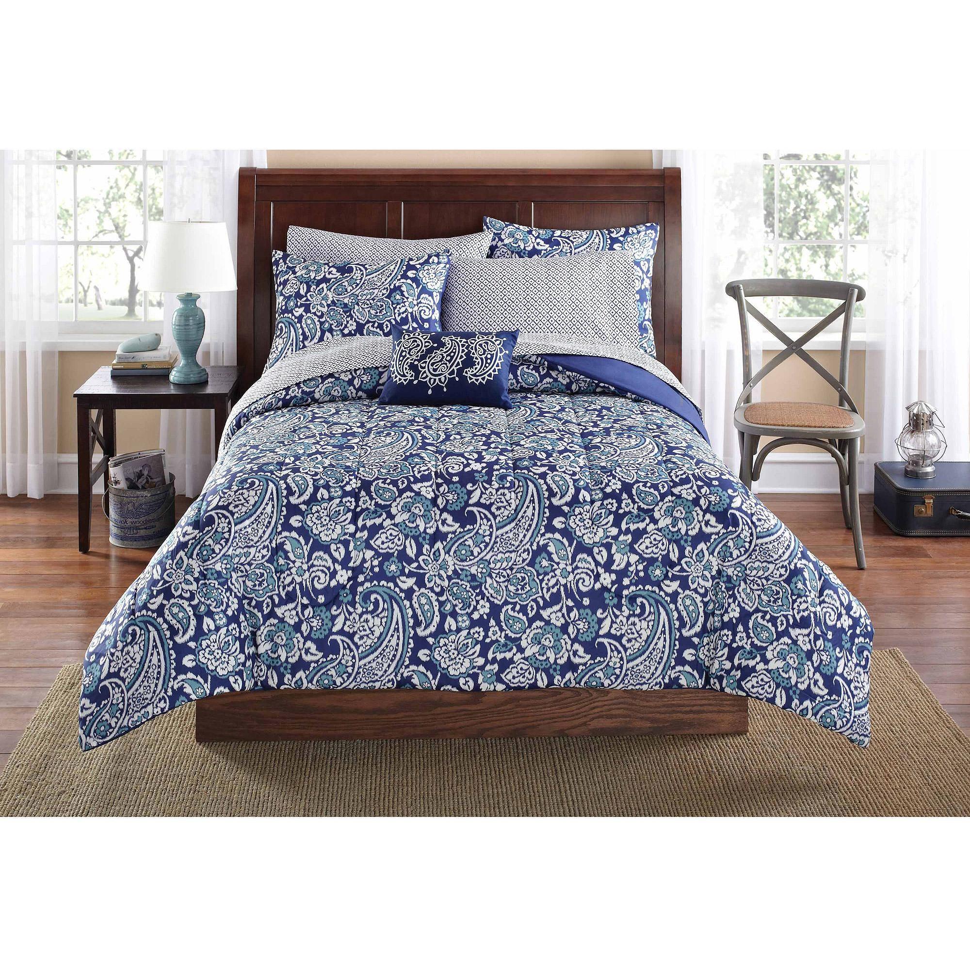 77fda4fa1954e7a330151b31d8359d2a - Better Homes And Gardens Indigo Paisley Comforter Set