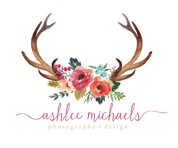 premade logo design rustic deer antlers logo vintage