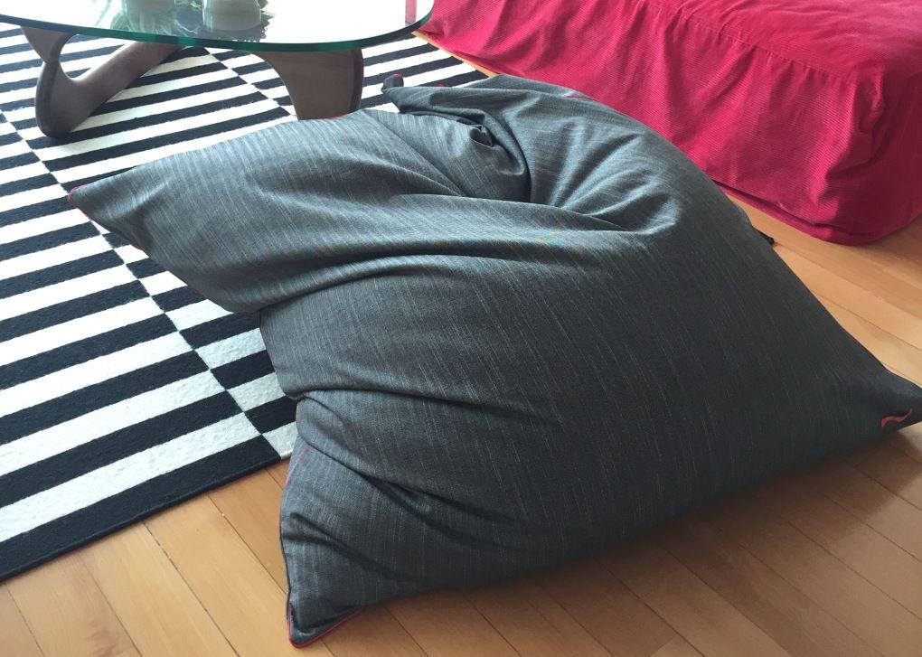 tuto diy le pouf fa on fatboy couture vieux draps. Black Bedroom Furniture Sets. Home Design Ideas