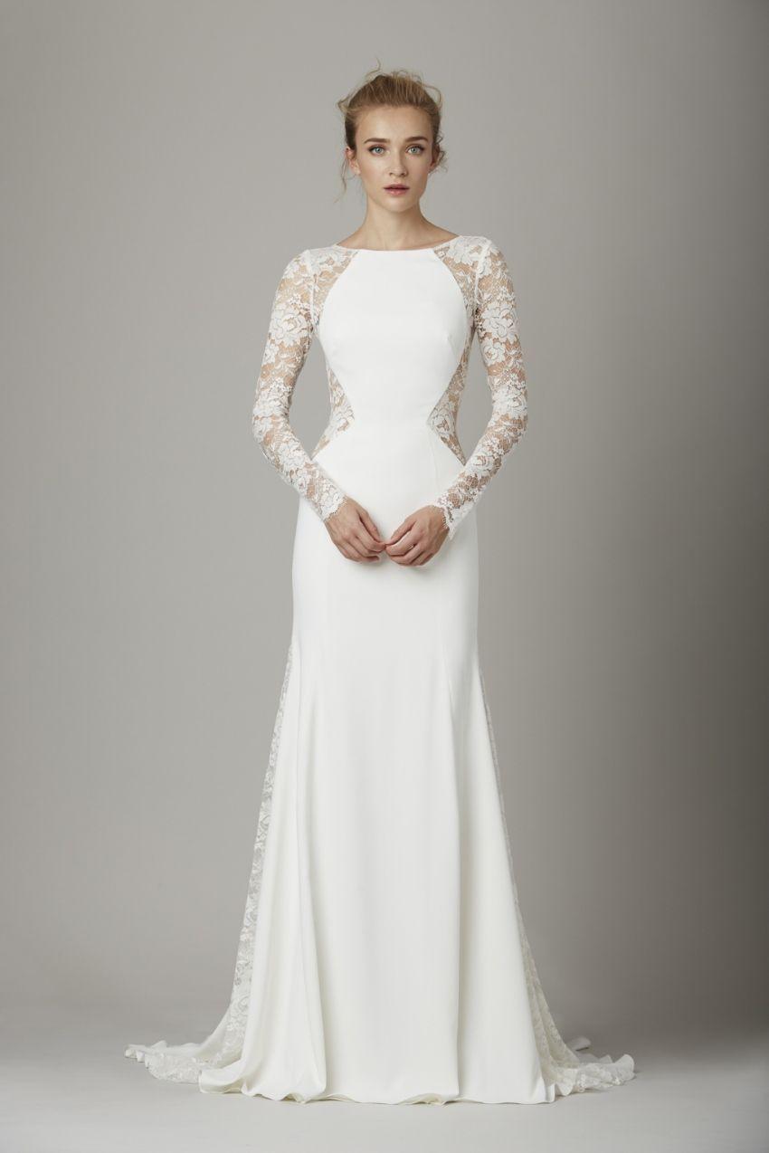 Flattering Long Sleeve Wedding Dress from Lela Rose  56084b1b3e
