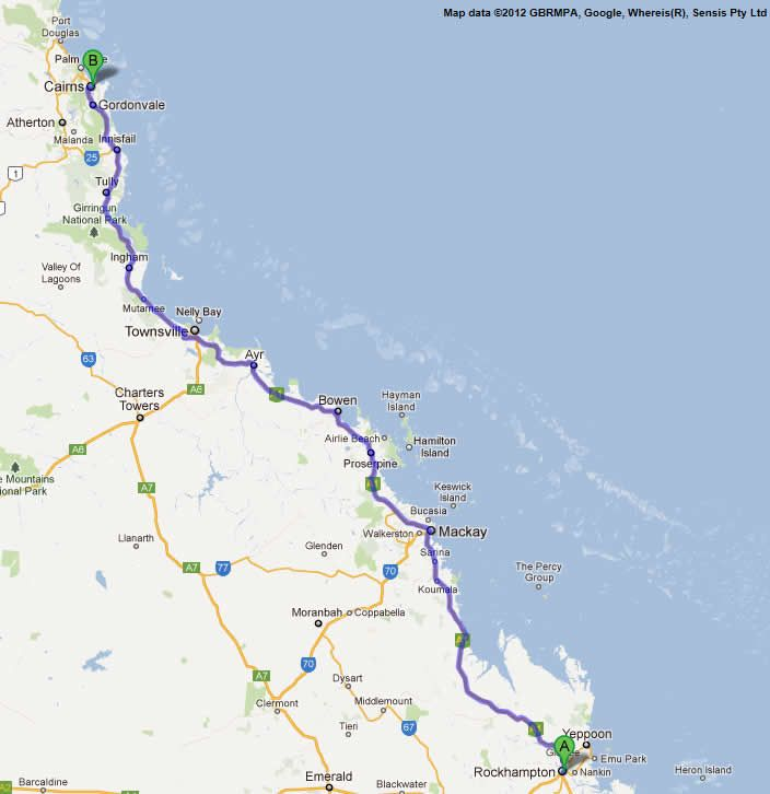 gladstone to proserpine road map 2 Australia Pinterest
