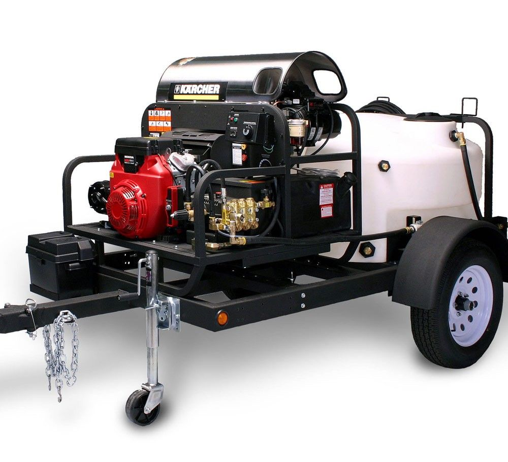 TRK2500 Customized, TrailerMounted Hot Water Pressure