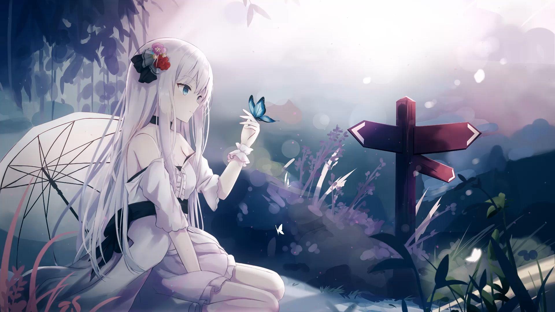 Recital Butterfly Girl 1080p Wallpaper Engine Anime 1080p Anime Wallpaper Anime 1920 X 1080 Wallpaper Anime Cute anime wallpaper engine