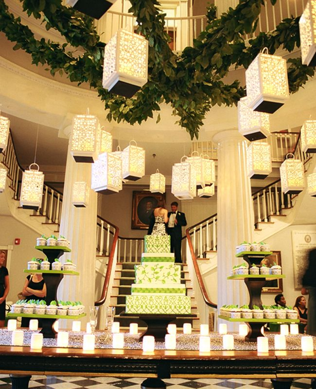 Afternoon Wedding Reception Ideas: Inspiration Of The Day: Hanging Luminaries