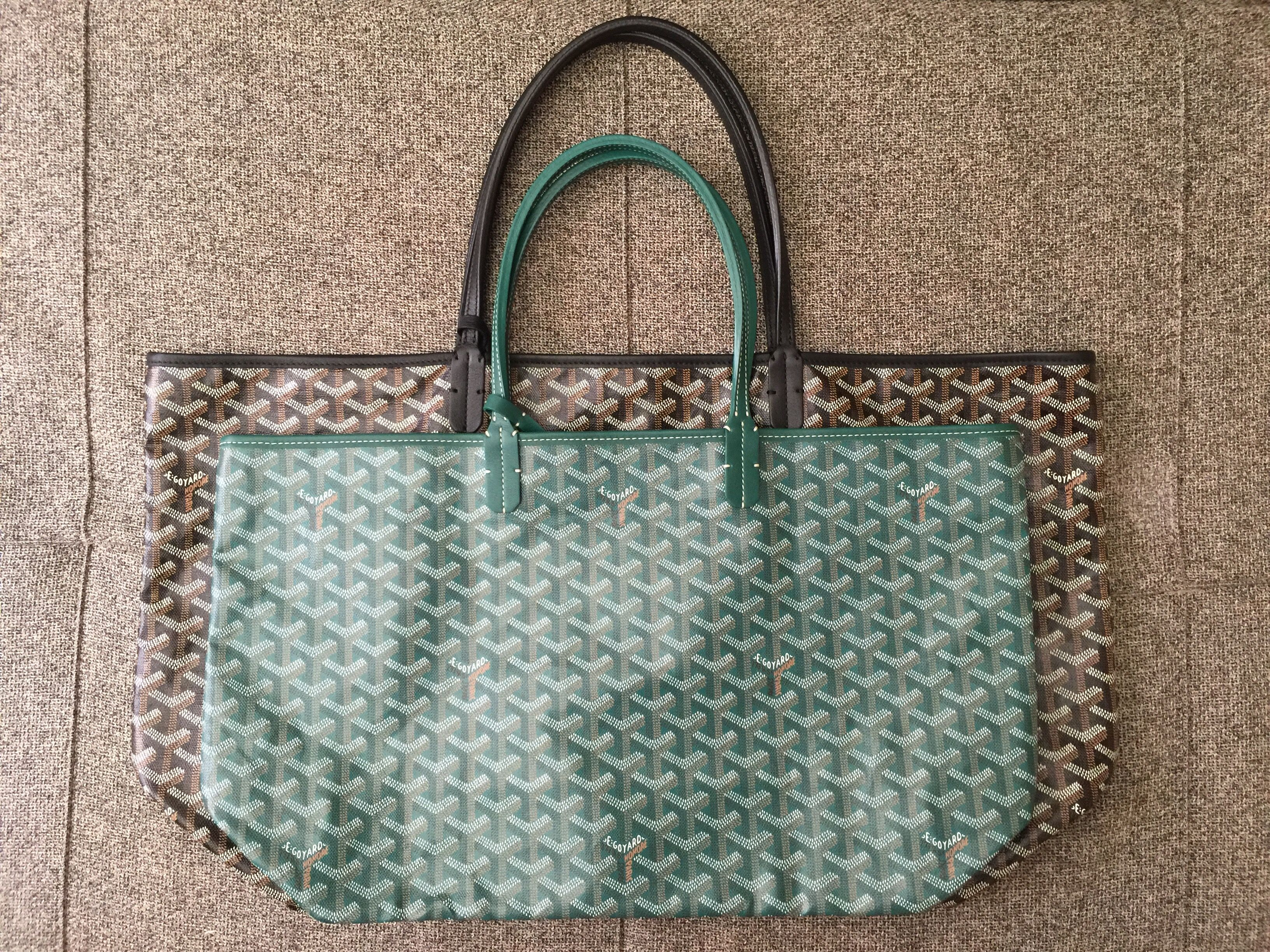 773dac45c6f2 Goyard Saint Louis Tote PM vs GM Goyard Tote, Tote Purse, Brown Leather,