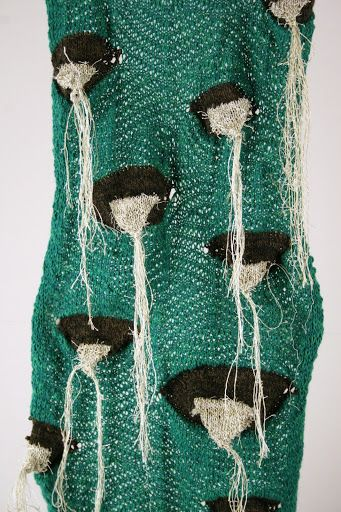 Created with a home knitting machine Crocheted
