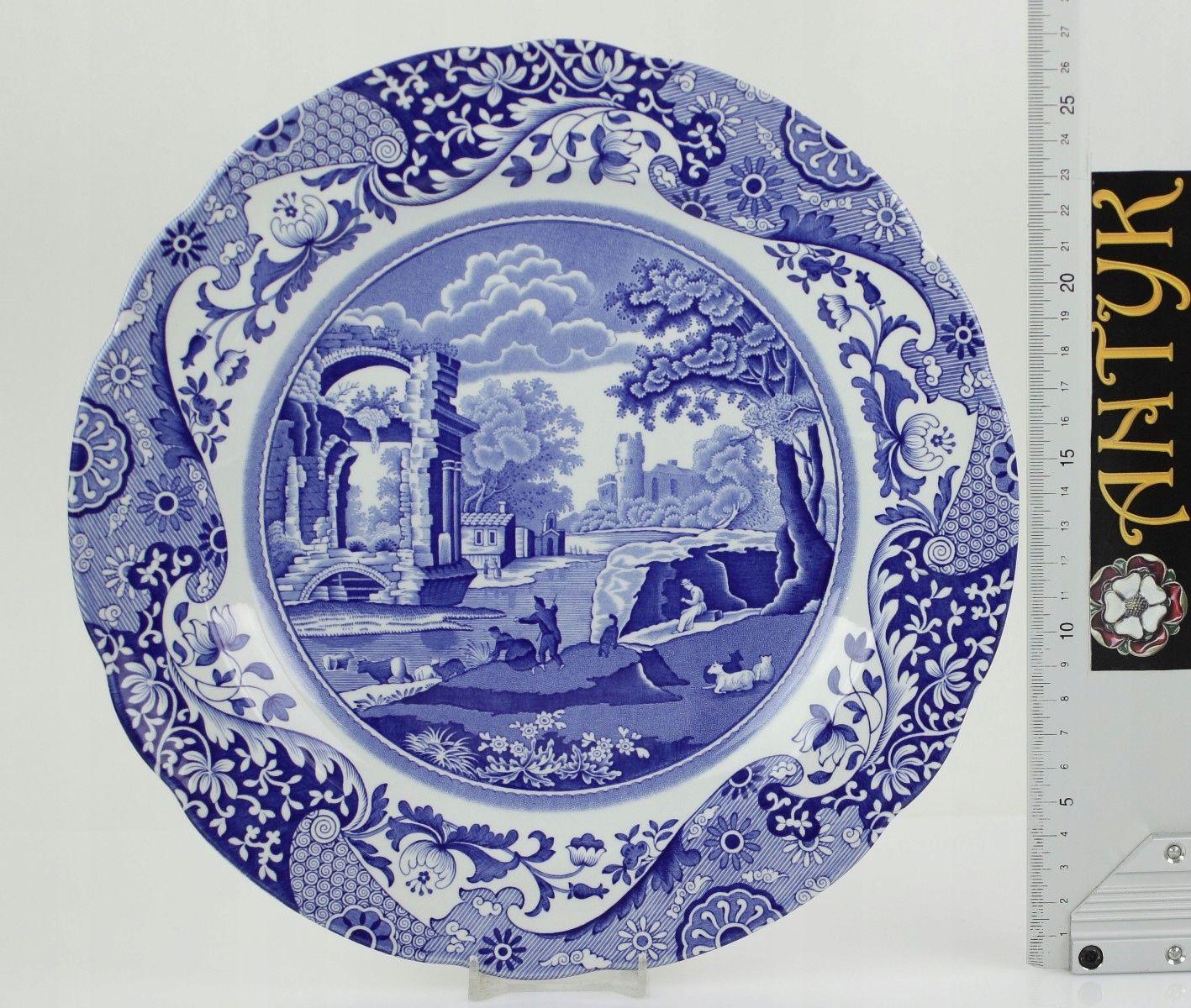 Antyk Spode S Italian Talerz 27cm 7938718619 Oficjalne Archiwum Allegro China Patterns Italian Dinnerware Blue And White China