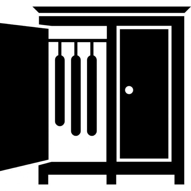 Download Bedroom Closet With Opened Door Of The Side To