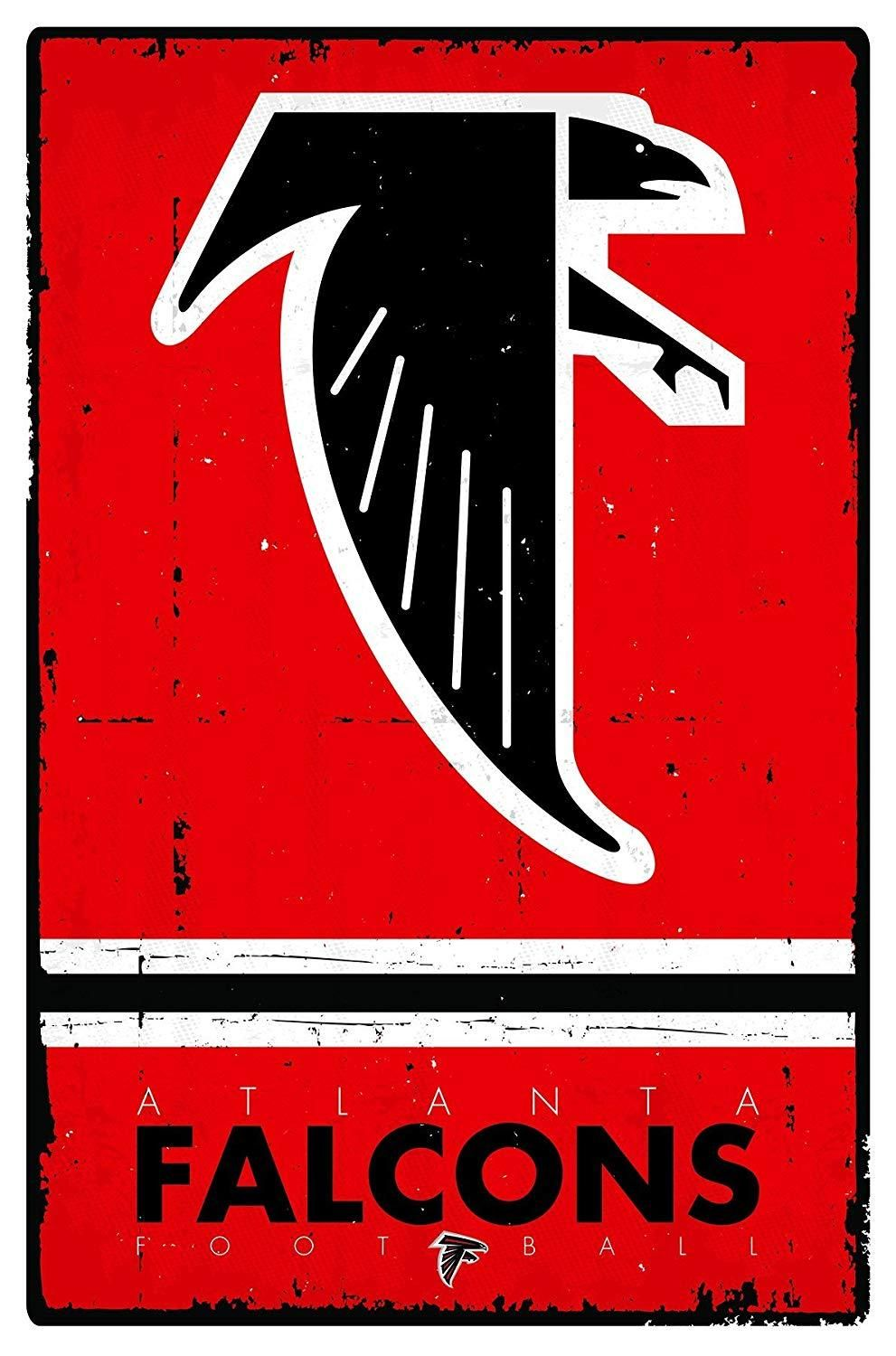 Atlanta Falcons Throwback 22x34 Football Poster Atlanta Falcons Official Nfl Football Nfl Football Teams