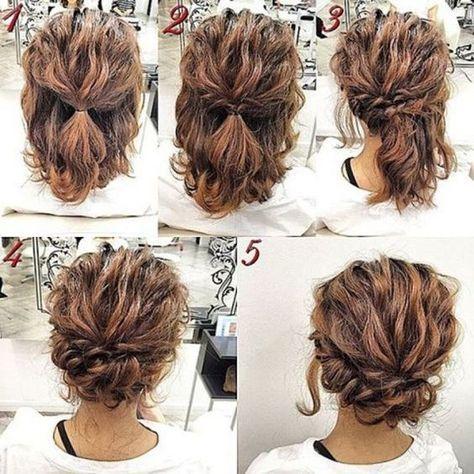 Updos For Short Curly Hair Http Gurlrandomizer Tumblr Com Post 157387787697 Hairstyle Ideas I Love This Hair Simple Prom Hair Hair Styles Short Hair Tutorial