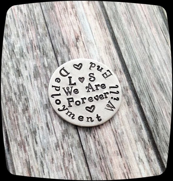 Military Deployment Gift, deployment will end,  Pocket Token, Love Token, Golf ball Marker