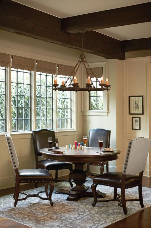 Eaton Square Round Dining Table And Side Chairs  Bernhardt Pleasing Bernhardt Dining Room Set Decorating Inspiration