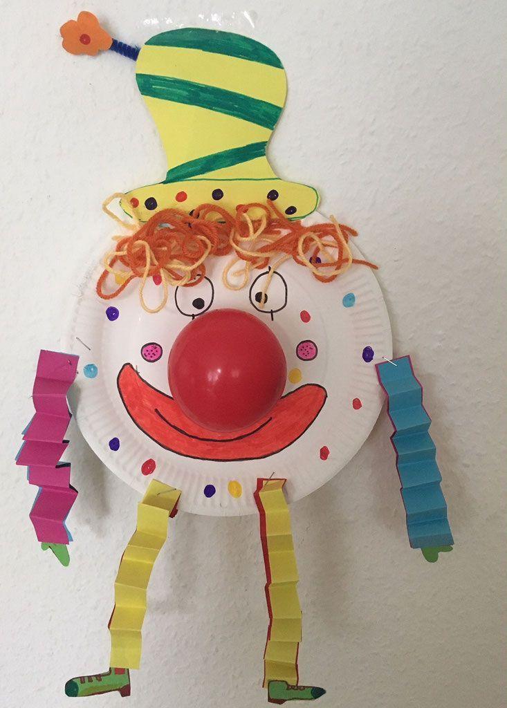 Pappteller-Clown - ein tolles DIY zu Fasching/Karneval