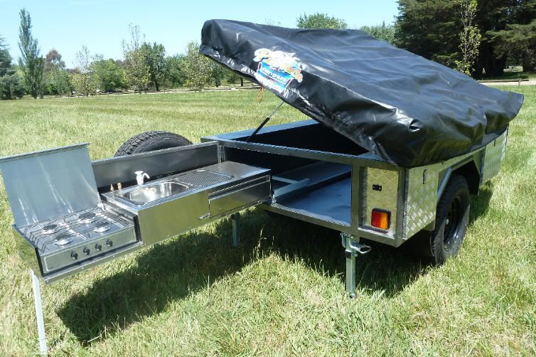 Home Made Camping Kitchen Trailer   Google Search