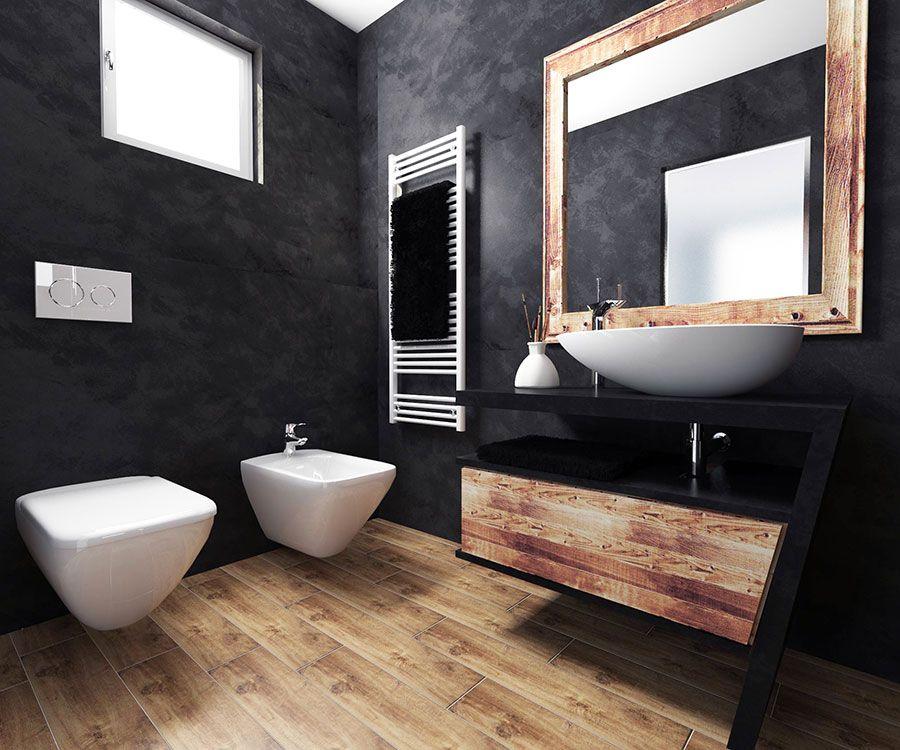 Bagni Neri Moderni 25 Foto Di Progetti Di Design Bagno Legno